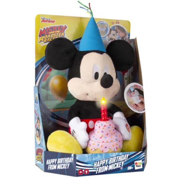 Jucarie de plus DISNEY Mickey Mouse - Happy birthday 184244, 18 luni+, multicolor