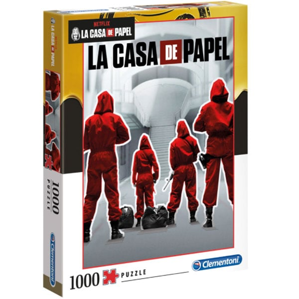 Puzzle CLEMENTONI La casa de papel 1260-39532, 14 ani+, 1000 piese