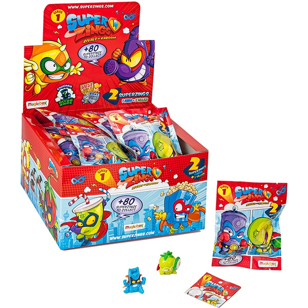 Set 50 figurine SUPERZINGS Seria 1 SZ10012, 3 ani+, multicolor