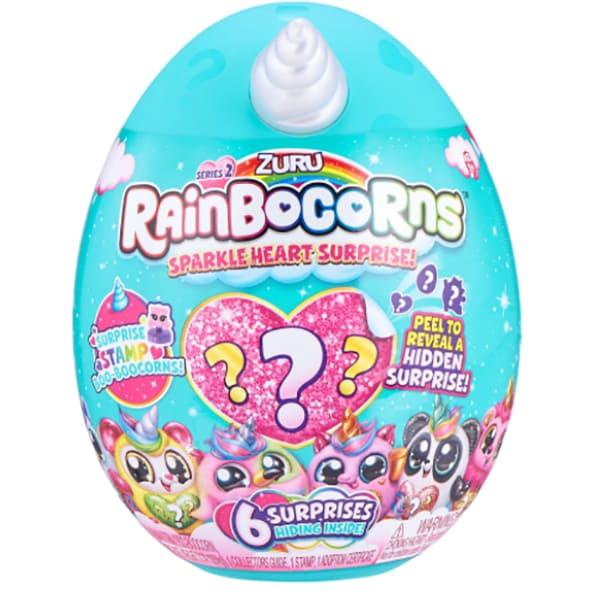 Jucarie de plus ZURU TOYS Rainbocorns - Sparkle Heart 2 ZR9214SQ1, 3 ani+, multicolor