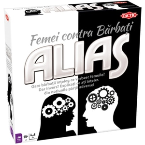 Joc de societate TACTIC Alias - Femei vs Barbati 54291, 15 ani+, 4-8 jucatori