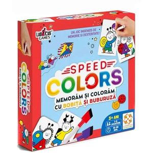 Joc educativ LIFESTYLE Speed Colors: Bobita si Buburuza LS102, 3 ani+, multicolor
