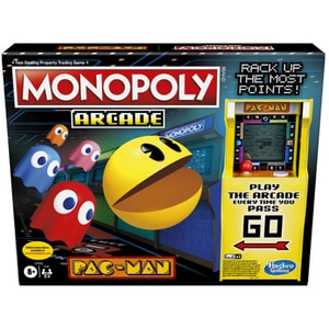 Joc de societate HASBRO Monopoly Arcade Pac-Man E7030, 8 ani+, 2-4 jucatori