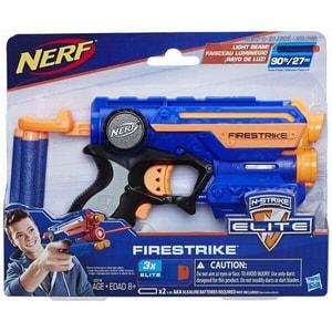 Blaster NERF N-Strike Elite Firestrike Blaster 533782, 8 ani+, albastru-portocaliu