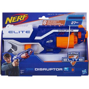 Blaster NERF Elite Disruptor B9837, 8 ani+, alb-albastru