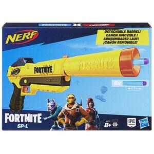 Blaster NERF Fortnite - Sneaky Springer SP-L E6717, 8 ani+, galben-maro