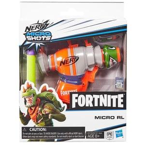 Pistol NERF Fortnite Microshots Dart-Firing Micro RL E6749, 8 ani+, portocaliu-verde
