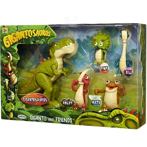 Set 5 figurine GIGANTOSAURUS Giganto and friends 701674, 3 ani+, multicolor