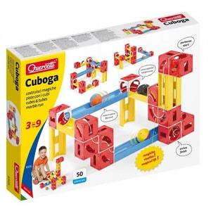 Joc constructie QUERCETTI Circuit cu bile Cuboga Premium Multiway Q6505, 3 - 9 ani, 62 piese