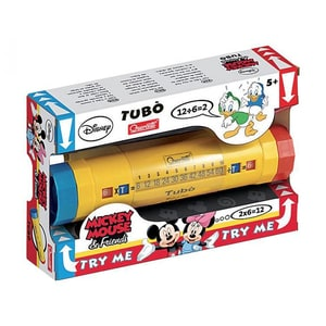 Jucarie QUERCETTI Tubul Pitagora Mickey Mouse Q2565, 5 ani+, galben
