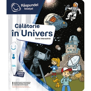 Carte interactiva RASPUNDEL ISTETEL Calatorie in Univers 27070, 3 ani+, multicolor