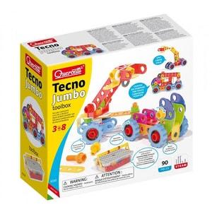 Joc constructie QUERCETTI Tehno Jumbo toolbox Q6150, 3 - 8 ani, 84 piese