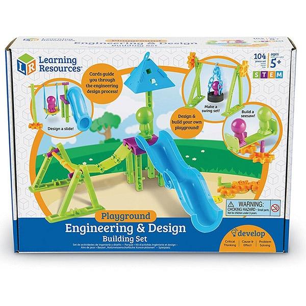 Set STEM LEARNING RESOURCES Parcul de distractii LER2842, 5 - 9 ani, 50 piese
