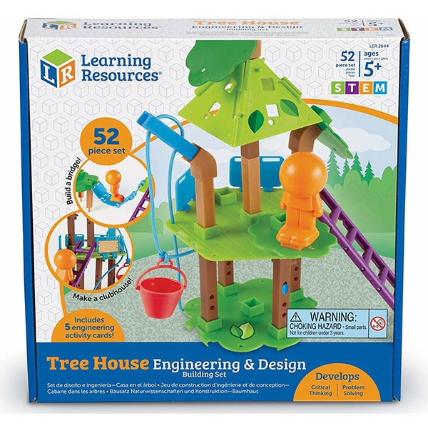Set STEM LEARNING RESOURCES Casuta din copac LER2844, 5 - 9 ani, 40 piese