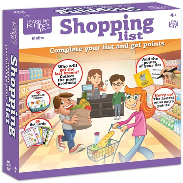 Joc interactiv LEARNING KITDS Lista de cumparaturi PA-9103, 4 ani+, 2 - 4 jucatori