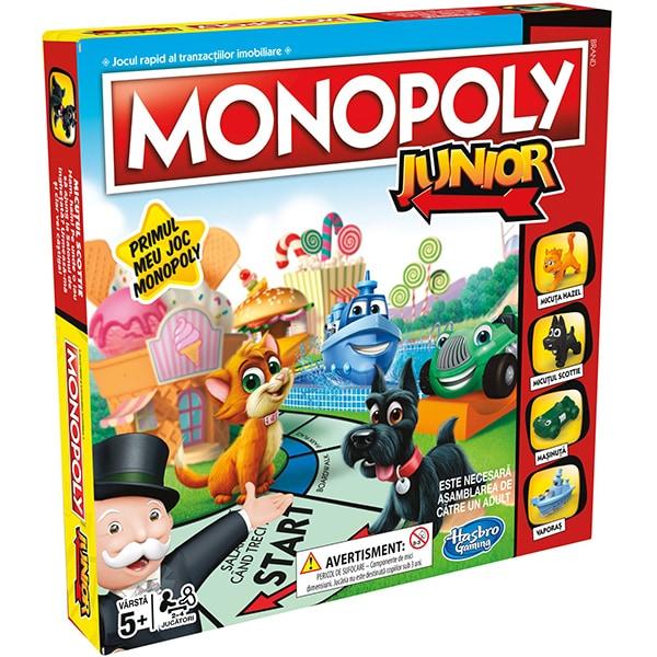 Joc de societate HASBRO Monopoly Junior A69842, 5 ani+, 2 - 4 jucatori