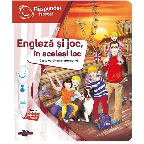 Carte interactiva RASPUNDEL ISTETEL Engleza si joc, in acelasi loc 69370, 6 ani+, multicolor