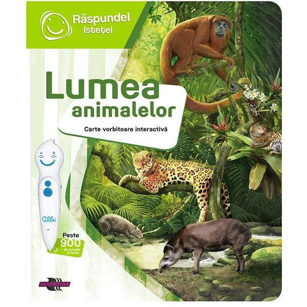 Carte interactiva RASPUNDEL ISTETEL Lumea animalelor 69436, 6 ani+, multicolor