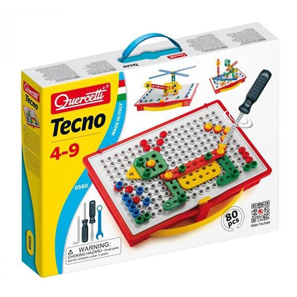 Joc constructie QUERCETTI Tehno Q0560, 4 - 9 ani, 80 piese
