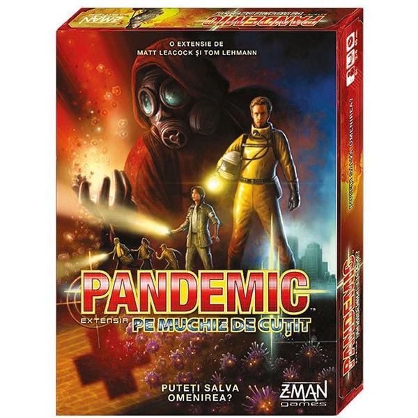 Joc de societate ASMODEE Pandemic - Pe muchie de cutit ZMG71101RO, 8 ani+, 2-5 jucatori