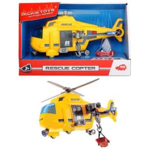 Elicopter de salvare cu lumini si sunete DICKIE 203302000, 3 ani+, galben-gri