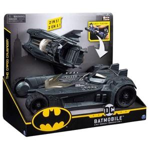 Masinuta BATMAN 2 in 1 - Batmobil si Batboat 6055952, 4 ani+, gri antracit-negru