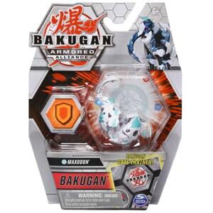 Figurina BAKUGAN S2 Basic Eroul Maxodon 6055868_20124289, 6 ani+, alb-bleu