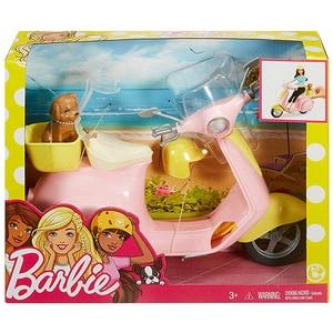 Scooter BARBIE MTFRP56, 3 ani+, roz-galben