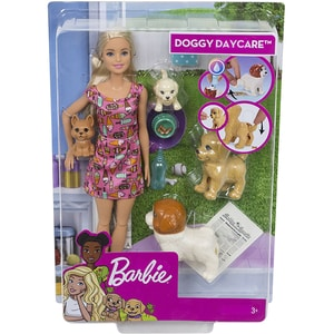 Papusa BARBIE Doggy Daycare MTFXH08, 3 ani+, multicolor