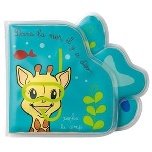 Carte pentru baie VULLI Girafa Sophie, 12 luni+, multicolor