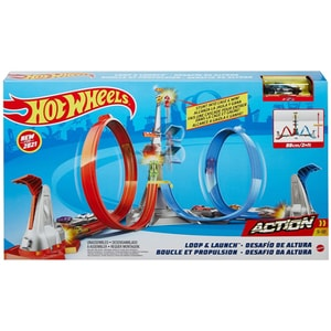 Pista HOT WHEELS Loop&Launch Track MTGRW39, 5 ani+, multicolor