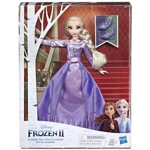 Papusa FROZEN Disney Frozen II Elsa din Arendelle E6844, 3 ani+, mov