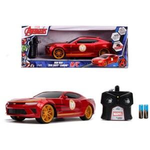 Masina cu telecomanda JADA TOYS Iron Man - Chevy Camaro SS 253226000, 8 ani+, rosu-negru