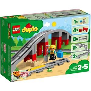 LEGO Duplo: Pod si sine de cale ferata 10872, 2 - 5 ani, 26 piese