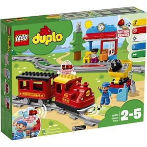 LEGO Duplo: Tren cu aburi 10874, 2-5 ani, 59 piese