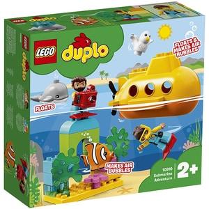 LEGO Duplo: Town - Aventura cu submarinul 10910, 2 ani+, 24 piese