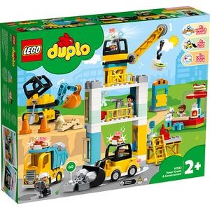 LEGO Duplo: Macara si constructie 10933, 2 ani+, 123 piese
