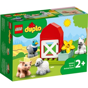 LEGO Duplo: Animalele de la ferma 10949, 2 ani+, 11 piese