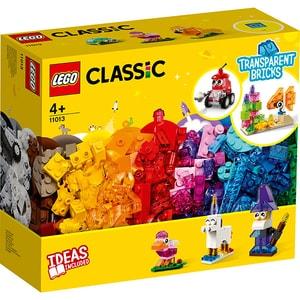LEGO Classic: Caramizi transparente creative 11013, 4 ani+, 500 piese