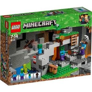 LEGO Minecraft: Pestera cu zombi 21141, 7 - 14 ani, 241 piese