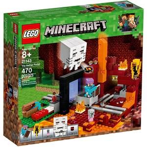 LEGO Minecraft: Portalul Nether 21143, 8 ani+, 470 piese
