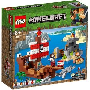 LEGO Minecraft: Aventura corabiei de pirati 21152, 8 ani+, 386 piese