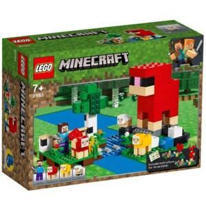 LEGO Minecraft: Ferma de lana 21153, 7 ani+, 260 piese