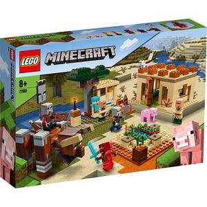 LEGO Minecraft: The Illager Raid 21160, 8 ani+, 562 piese