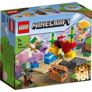 LEGO Minecraft: Reciful de corali 21164, 7 ani+, 92 piese