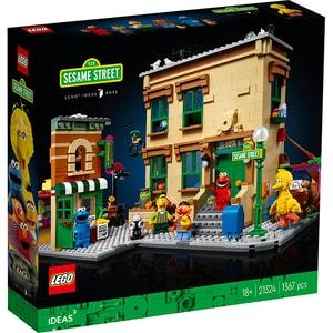 LEGO Ideas: 123 Sesame Street 21324, 18 ani+, 1367 piese