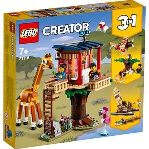 LEGO Creator: Casuta in copac cu animale salbatice din safari 31116, 7 ani+, 397 piese