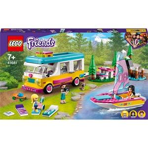LEGO Friends: Furgoneta de camping si barca cu panze 41681, 7 ani+, 487 piese