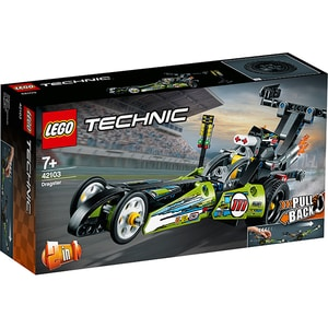 LEGO Technic: Dragster 42103, 7 ani+, 225 piese