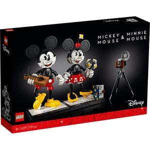LEGO Disney: Personaje construibile Mickey Mouse si Minnie Mouse 43179, 18 ani+, 1739 piese